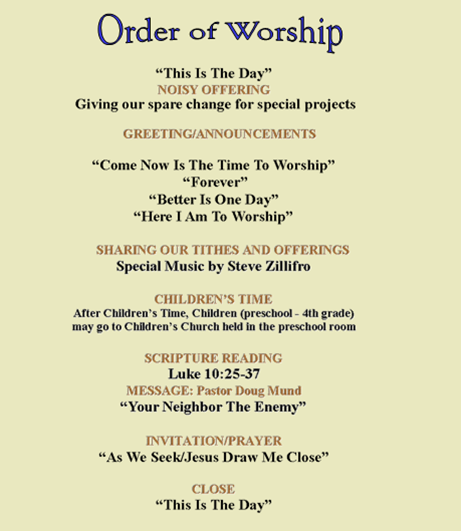 Order of services for church militaryalicious order of services for church stopboris Gallery